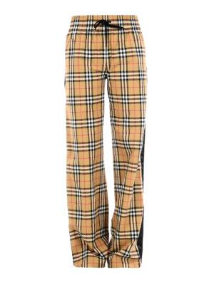 BURBERRY: pantaloni casual - Pantaloni in cotone Vintage check