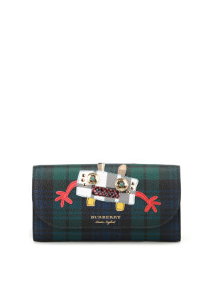 Burberry: clutches - Henley tartan wallet bag
