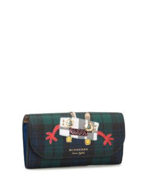 Burberry: clutches online - Henley tartan wallet bag