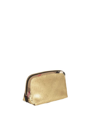 Burberry: clutches online - Sequined House Check large clutch