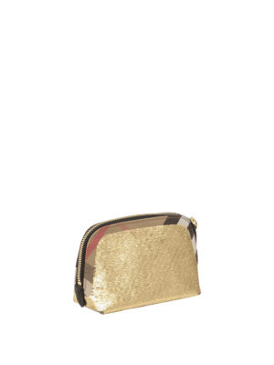 Burberry: clutches online - Sequined House Check medium clutch