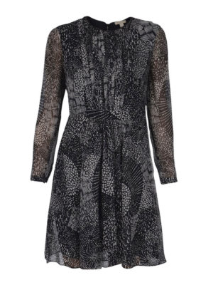 Burberry: cocktail dresses - Crepe de chine dress