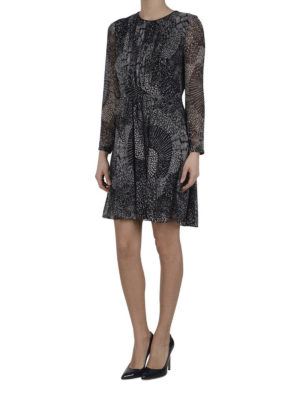 Burberry: cocktail dresses online - Crepe de chine dress