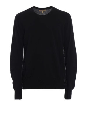 BURBERRY: maglia collo rotondo - Pull nero Carter in lana