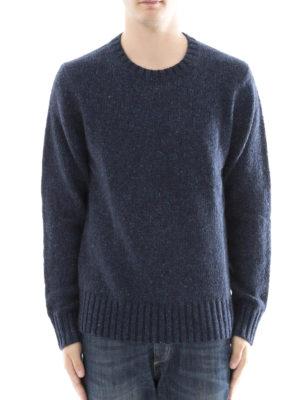 Burberry: crew necks online - Cashmere mohair wool blend sweater