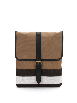 Burberry: cross body bags - Canvas check cross body bag