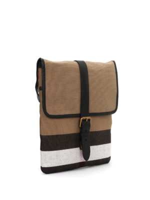 Burberry: cross body bags online - Canvas check cross body bag
