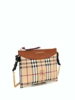 Burberry: cross body bags online - Tartan Haymarket check print pouch