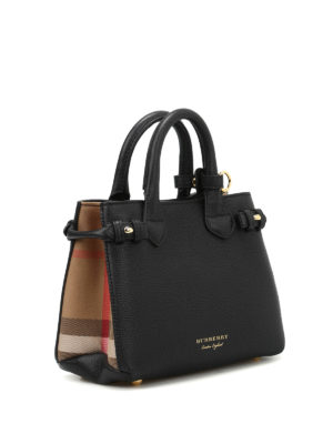 Burberry: cross body bags online - The Banner baby leather bag