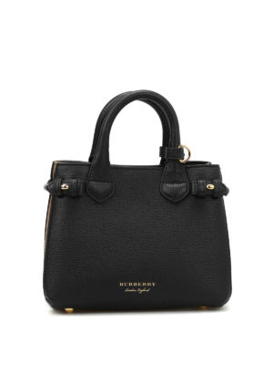Burberry: cross body bags - The Banner baby leather bag