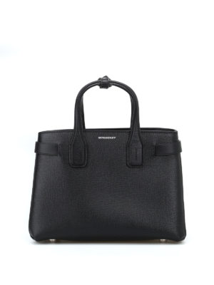 BURBERRY: borse a tracolla - Borsa The Small Banner in pelle nera
