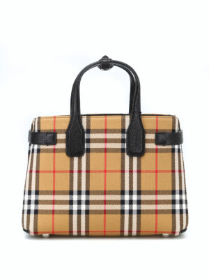 BURBERRY: borse a tracolla - Borsa The Small Banner Vintage check