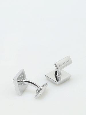 Burberry: Cufflinks online - Check brass cufflinks