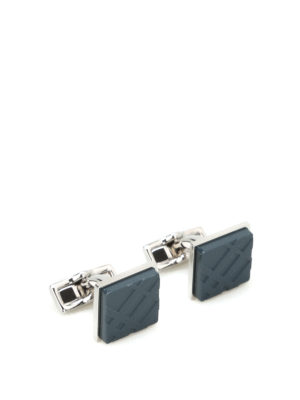 Burberry: Cufflinks - Tartan brass cufflinks