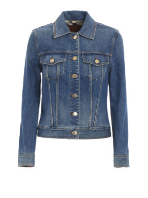 Burberry: denim jacket - Golden buttons denim jacket