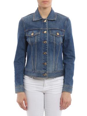 Burberry: denim jacket online - Golden buttons denim jacket