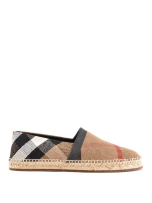 BURBERRY: espadrillas - Espadrillas in tela check
