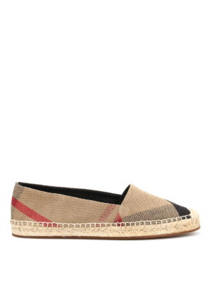 Burberry: espadrilles - Checked canvas espadrilles