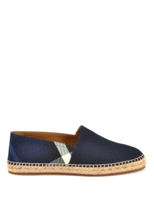 Burberry: espadrilles - Checked leather canvas espadrilles