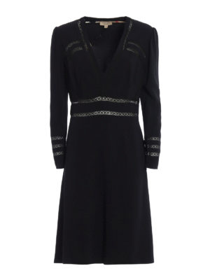 Burberry: evening dresses - Fran cady dress with passementerie