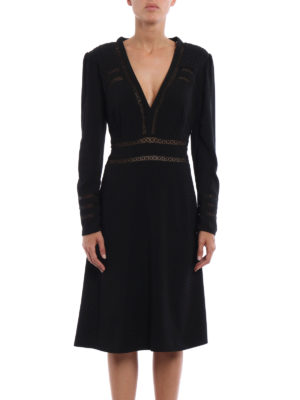 Burberry: evening dresses online - Fran cady dress with passementerie