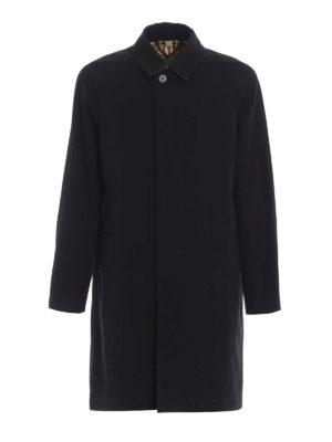 BURBERRY: cappotti al ginocchio - Soprabito Camden in gabardina nera