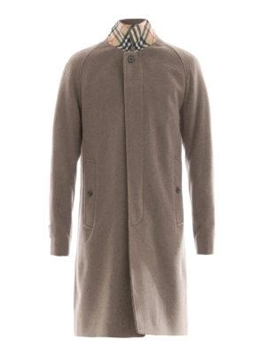 Burberry: knee length coats - Cashmere Car Coat