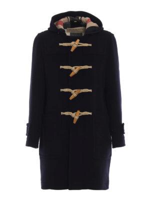 BURBERRY: cappotti al ginocchio - Montgomery Greenwich in panno blu