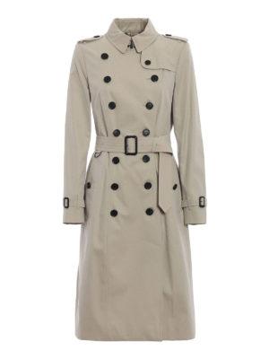 BURBERRY: cappotti al ginocchio - Impermeabile beige Heritage The Chelsea XL