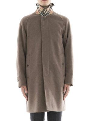 Burberry: knee length coats online - Cashmere Car Coat