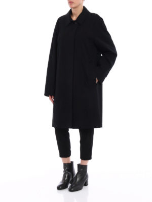 Burberry: knee length coats online - The Camden gabardine long coat