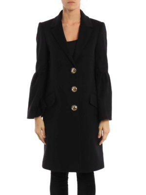 Burberry: knee length coats online - Wool and cashmere coat