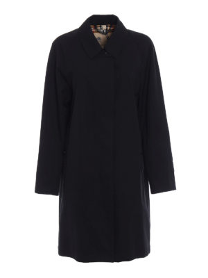 Burberry: knee length coats - The Camden gabardine long coat