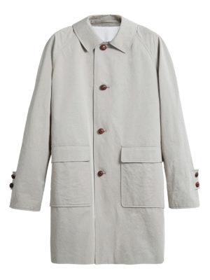 BURBERRY: cappotti al ginocchio - Cappotto in cotone cerato