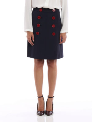 Burberry: knee length dresses online - Trenchbridge viscose A-line skirt