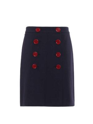 Burberry: knee length dresses - Trenchbridge viscose A-line skirt