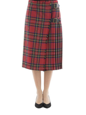 Burberry: Knee length skirts & Midi online - Tartan wool midi kilt