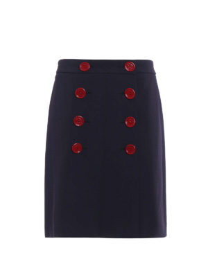 Burberry: Knee length skirts & Midi - Trenchbridge viscose A-line skirt