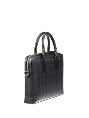 Burberry: laptop bags & briefcases online - Barrow London check briefcase