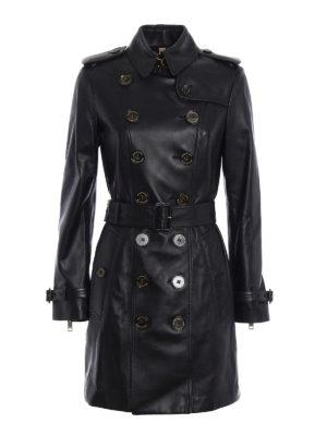 Burberry: leather coats - Sandringham mid leather trench coat