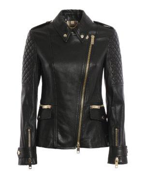 Burberry: leather jacket - Leather biker jacket