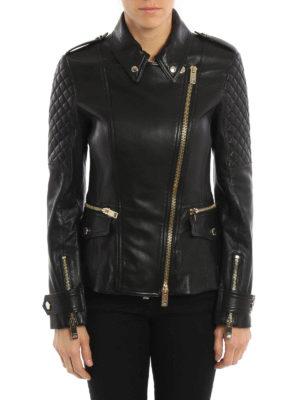 Burberry: leather jacket online - Leather biker jacket