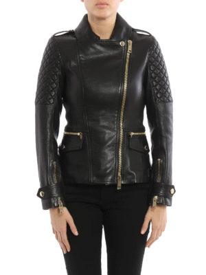 Burberry: leather jacket online - Remmington lambskin biker jacket