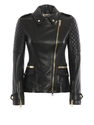 Burberry: leather jacket - Remmington lambskin biker jacket