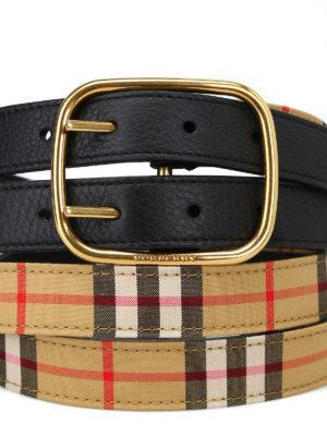 BURBERRY: cinture online - Cintura Lynton Vintage check a doppia asta