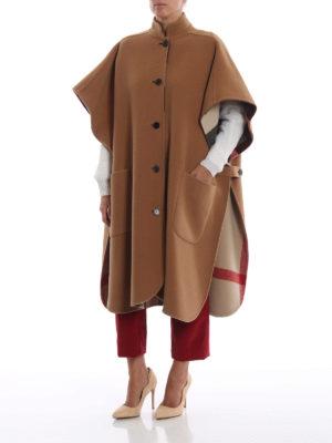 BURBERRY: Mantelle e poncho online - Mantella reversibile in misto lana cammello