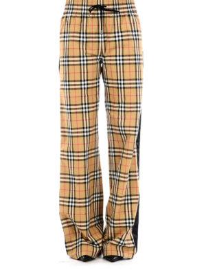 BURBERRY: pantaloni casual online - Pantaloni in cotone Vintage check