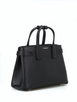 BURBERRY: borse a tracolla online - Borsa The Small Banner in pelle nera