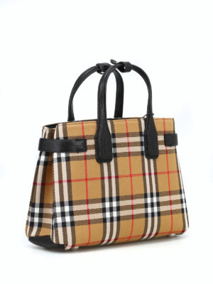 BURBERRY: borse a tracolla online - Borsa The Small Banner Vintage check