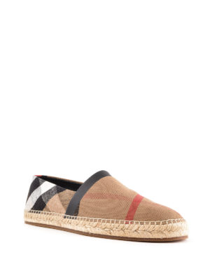 BURBERRY: espadrillas online - Espadrillas in tela check